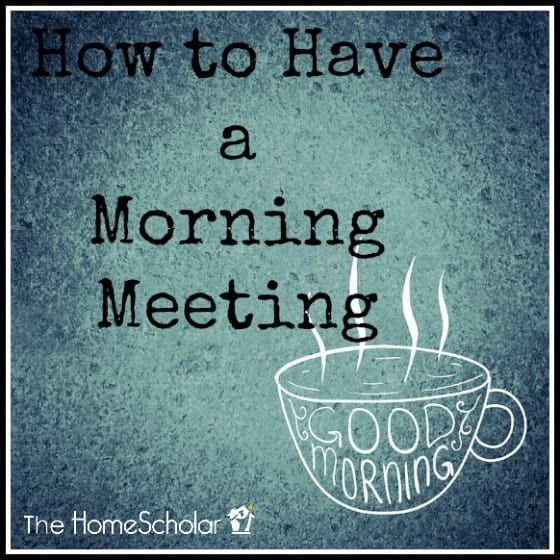 How to Have a Morning Meeting
