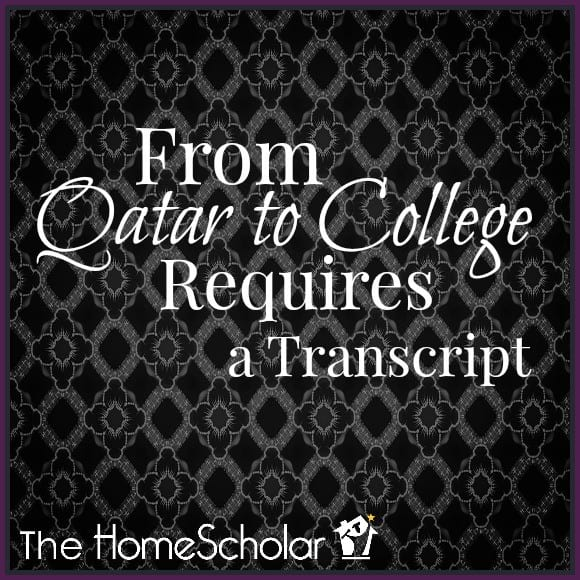 From Qatar to College Requires a Transcript