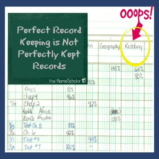Perfect Record Keeping is Not Perfectly Kept Records