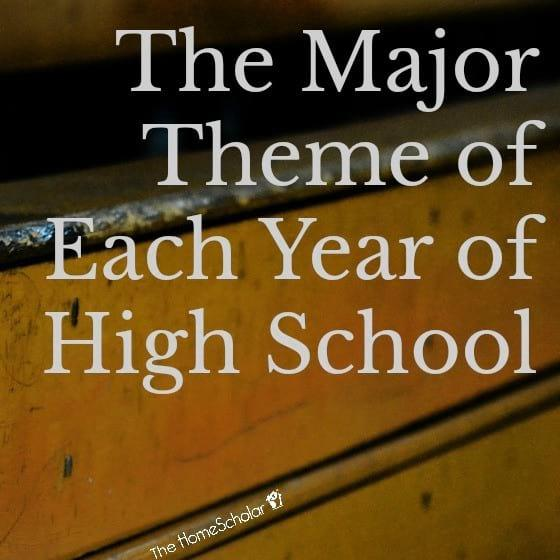 The Major Theme of Each Year of High School