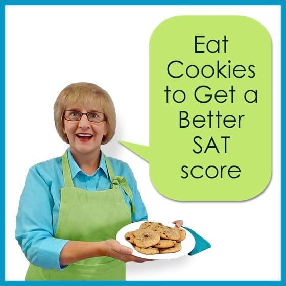 Eat Cookies to Get a Better SAT Score