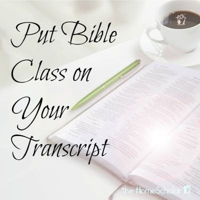Put Bible Class on Your Transcript