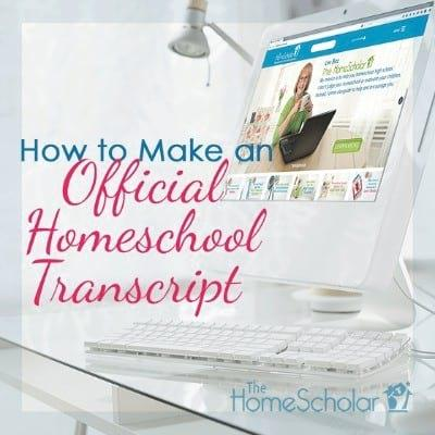 How to Make an Official Home School Transcript [Infographic]
