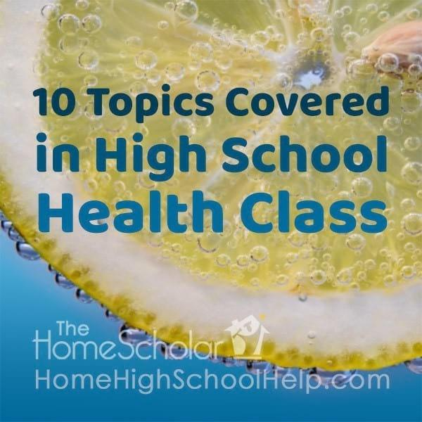 10 Topics Covered in High School Health Class