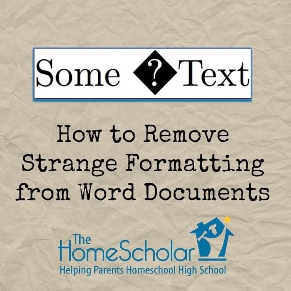 How to Remove Formatting from Word Documents